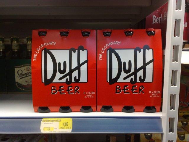 DUFF Bier bei Edeka