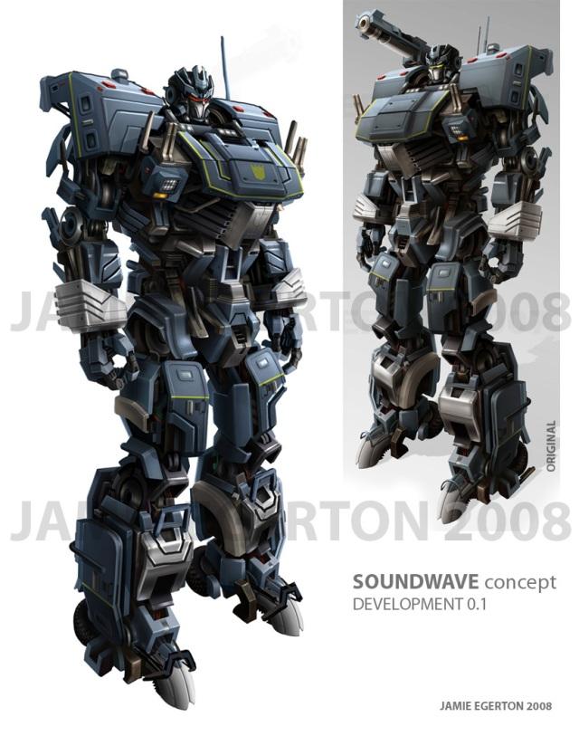 Transformers Soundwave Concept Art