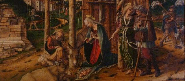 Carlo Crivelli - Adoration des Bergers - cut