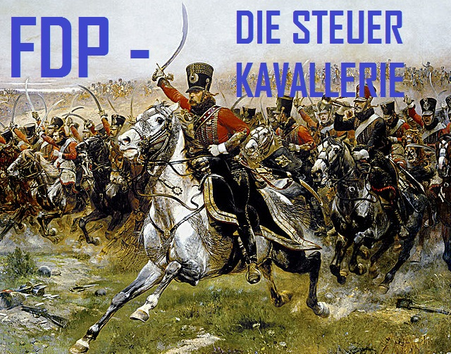 FDP - die Steuerkavallerie - Logo