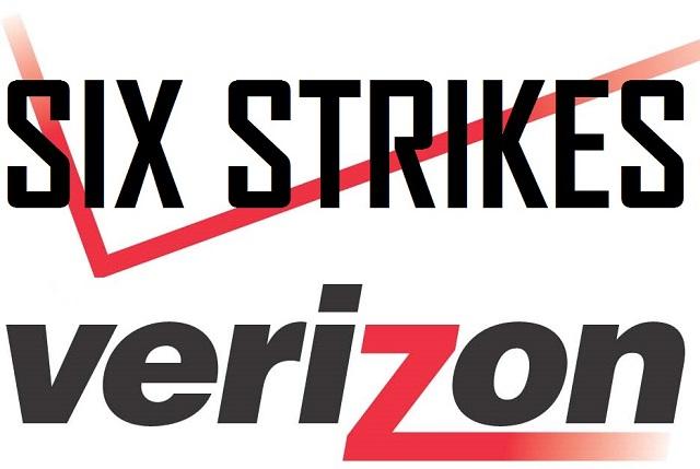Verizon Six Strikes - Logo