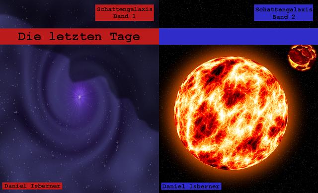 Schattengalaxis  - Cover 1 und 2 - Collage