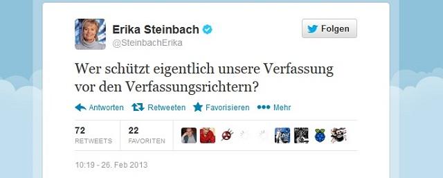 Steinbach - Verfassungsgericht - Adoption bei gleichgeschlechtlichen Paaren