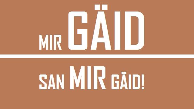 Mir Gäid - Logo