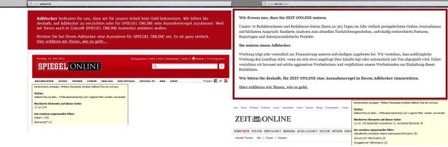 Adblock SPON Zeit