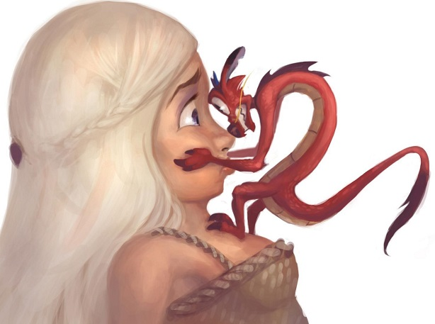 Disney-Daenerys and Red Dragon