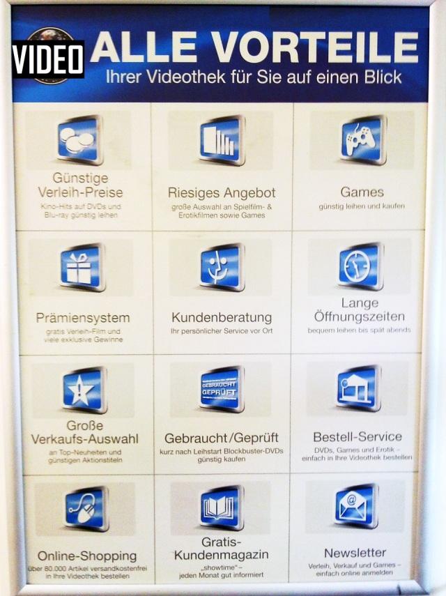 Videothekenvorteils - Werbung