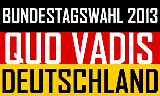 BTW2013 - Quo Vadis Deutschland - logo