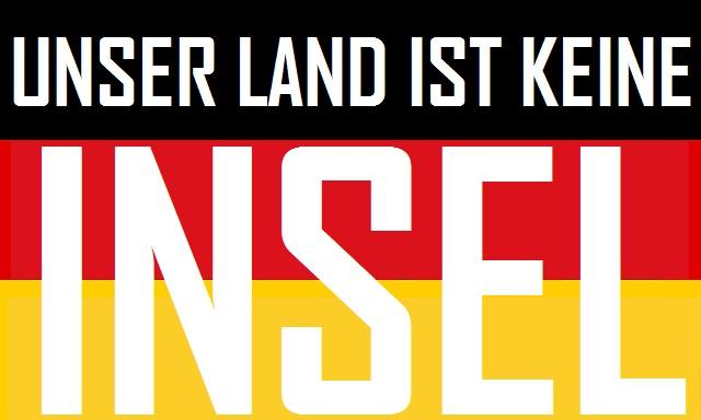 Unser Land ist keine Insel - Logo