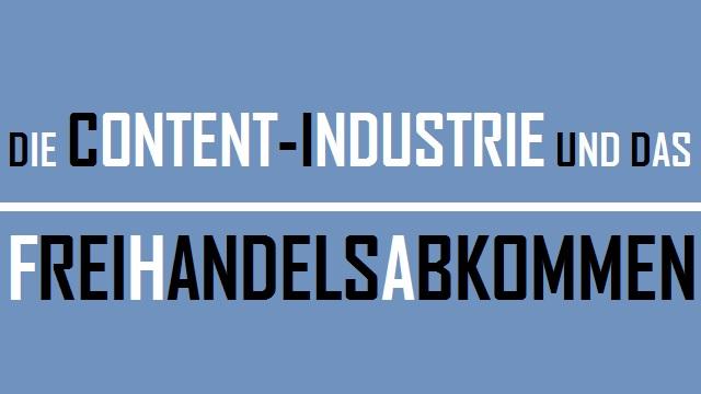 Content Industrie Freihandelsabkommen - Logo