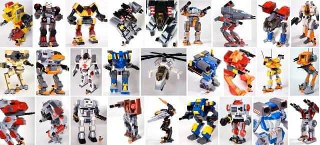 Lego Battlemechs - diverse