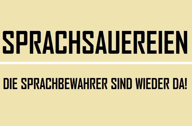 Sprachsauereien - Logo