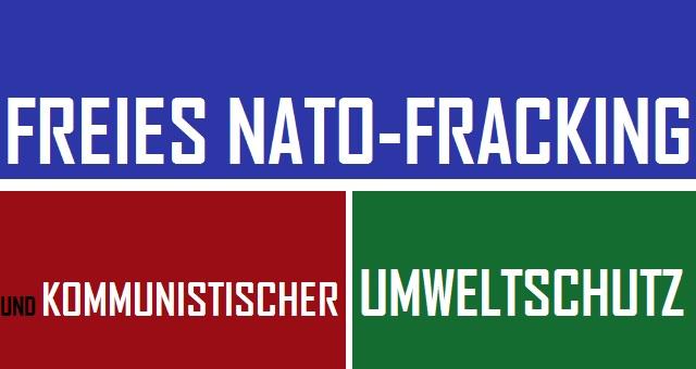 NATO-Fracking und kommunistischer Umweltschutz - Logo