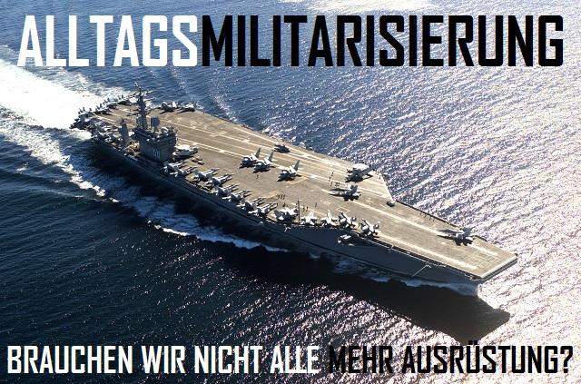 Alltagsmilitarisierung - Logo