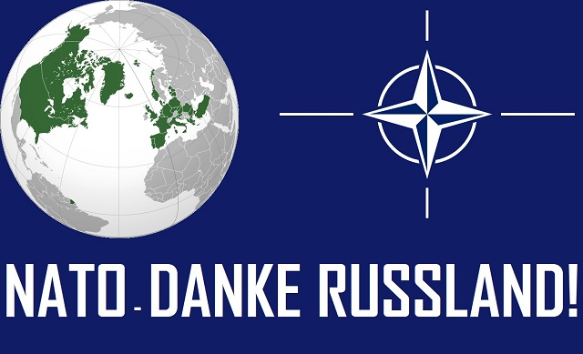 NATO - Danke Russland - Logo