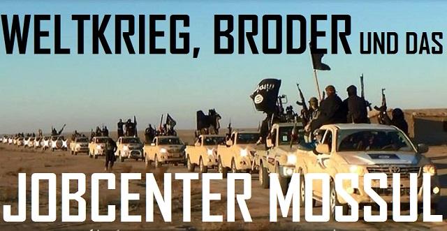 Weltkrieg, Broder, Jobcenter Mossul - Logo