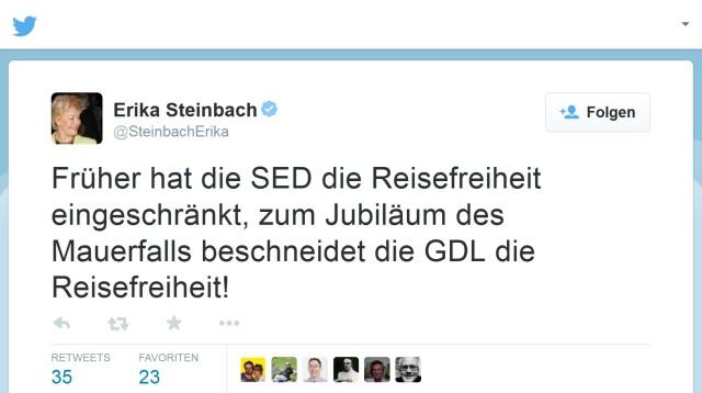 Erika Steinbach - GDL - Streik -DDR