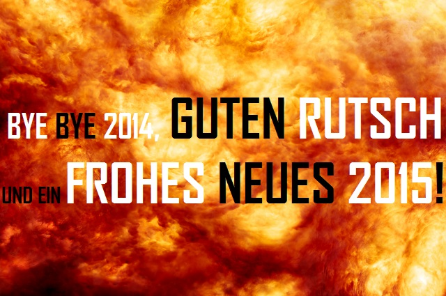 Bye Bye 2014 - Guten Rutsch - Frohes Neues 2015 - Logo