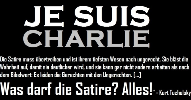 Je sui Charlie - Was darf Satire - Logo