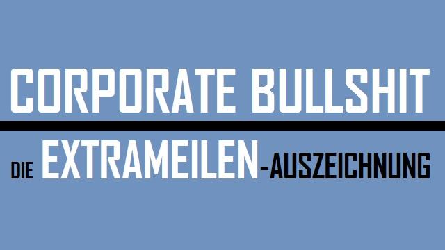 Corp Bullshit - Die Extrameilenauszeichnung - Logo