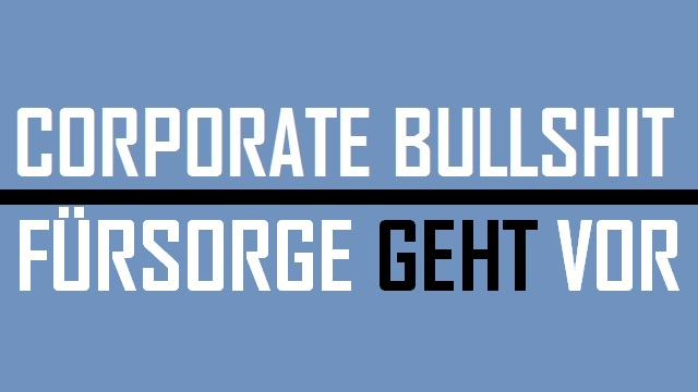 corp-bullshit-fürsorge-geht-vor-logo