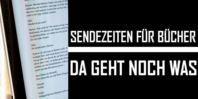 Sendezeiten für Bücher - Logo