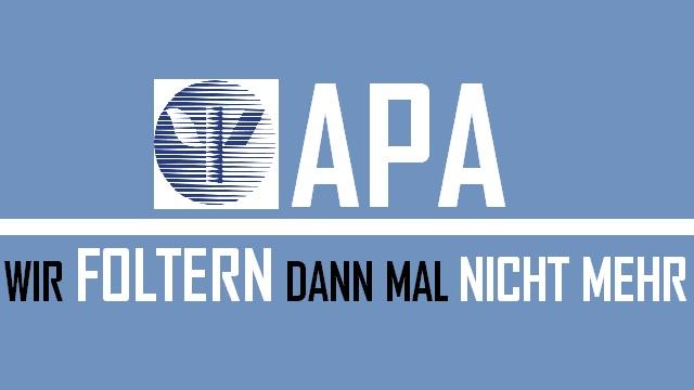 APA - Foltern nicht mehr - Logo