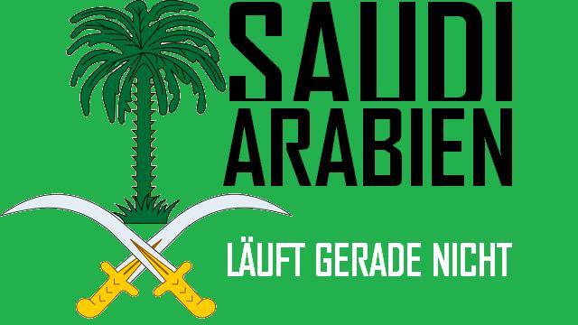 Saudi-Arabien - Läuft gerade nicht - Logo
