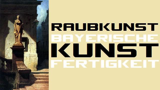 Raubkunst - Bayerische Kunstfertigkeit - Logo