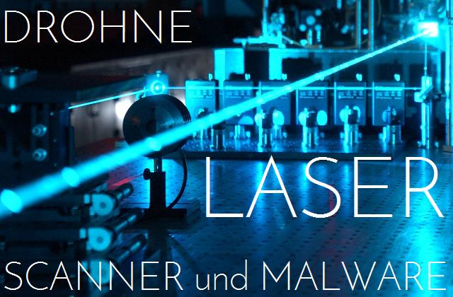 Drohne Laser Scanner Malware - Logo