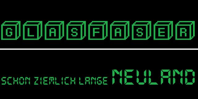Glasfaser - Schon ziemlich lange Neuland - Logo