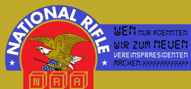 NRA - Wen zum neuen Vereinspräsidenten machen - Logo - new