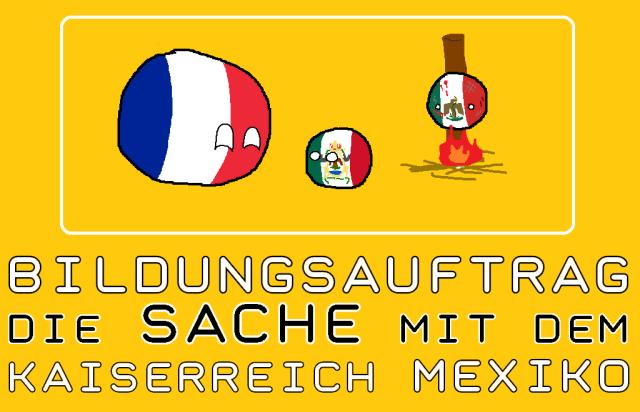 Bildungsauftrag - Kaiserreich Mexiko - Logo