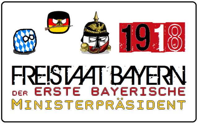 Freistaat Bayern - Der erste bayerische Ministerpräsident - Logo