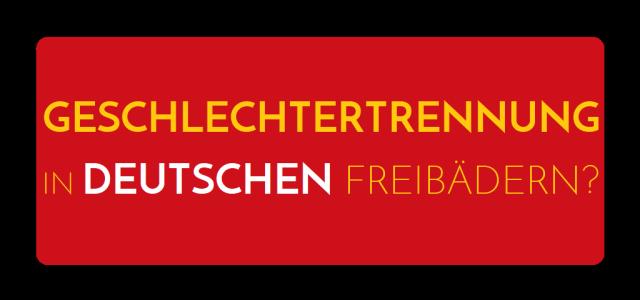Geschlechtertrennung in deutschen Freibädern - Logo