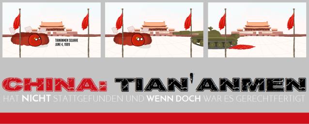 China - Tian'anmen - nicht stattgefunden aber gerechtfertigt - Logo