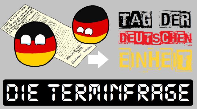 Deutschlandball - Tag der Deutschen Einheit - Die Terminfrage - Logo
