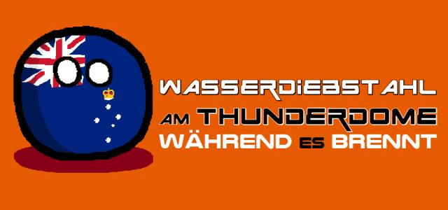 Wasserdiebstahl am Thunderdome - Logo