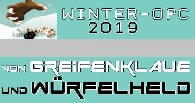 Winter - OPC 2019 - Greifenklaue und Würfelheld - Logo