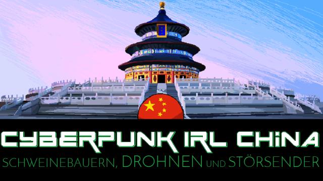 Cyberpunk IRL China - Schweinebauern Drohnen und Störsender - Logo
