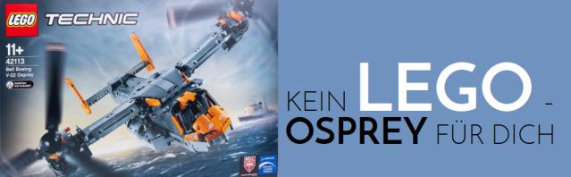 Kein LEGO - Osprey für dich - Logo