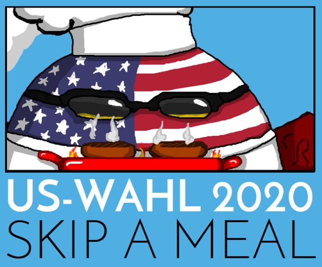 US-Wahl 2020 - Skip a Meal - Logo