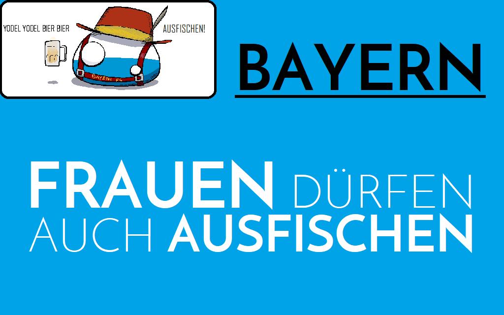 Bayern - Frauen dürfen auch Ausfischen - Logo