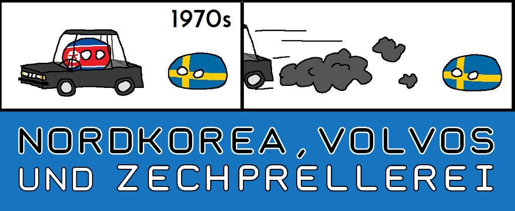 Nordkoreas, Volvos und Zechprellerei - Logo