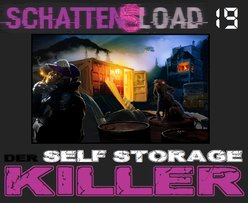 Schattenload 19 - Der Self Storage Killer - Logo - Promo