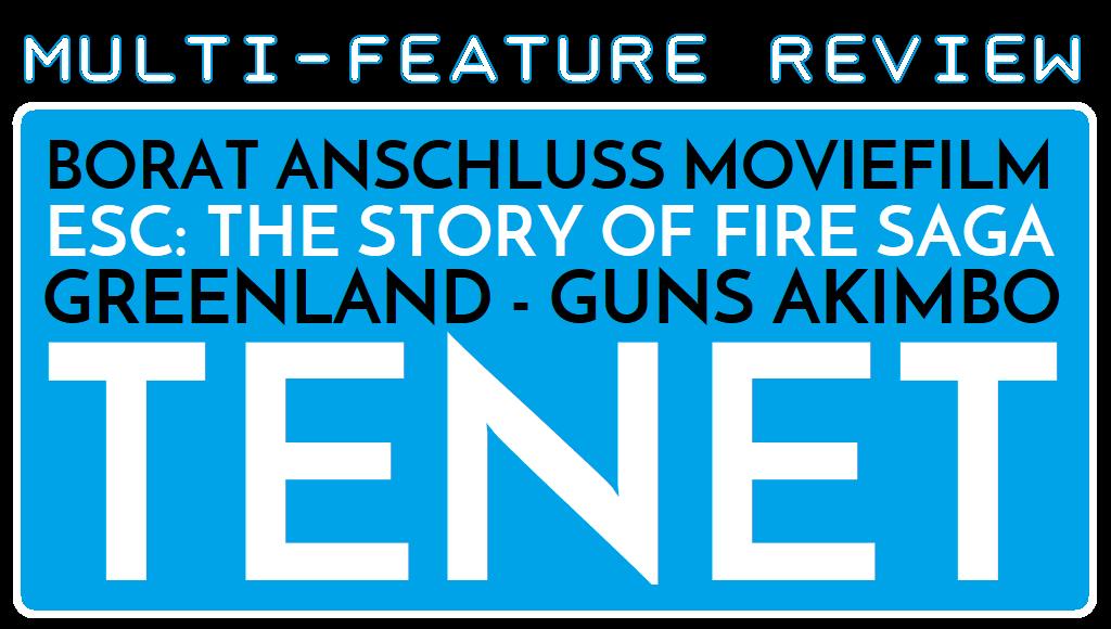 MFR - Borat 2 - ESC Fire Saga - Greenland - Guns Akimbo - Tenet - Logo