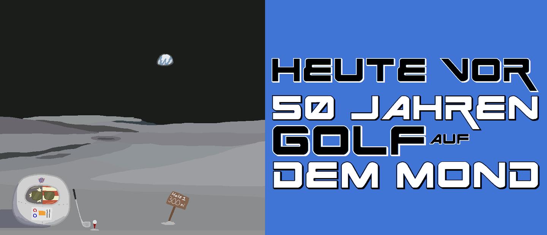 Heute vor 50 Jahren - Golf auf dem Mond - Logo