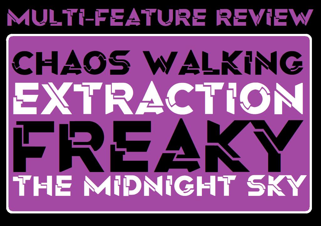 MFR - Chaos Walking - Extraction - Freaky - The Midnight Sky - Logo