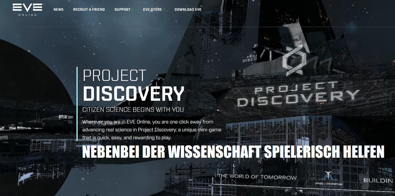 Project Discovery - Nebenbei der Wissenschaft spielerisch helfen - Logo