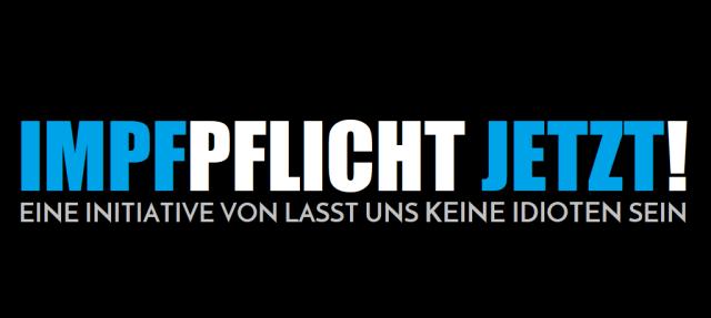 Impfpflicht jetzt - Logo